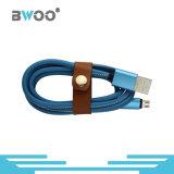 Кожаный кабель данных и данных по USB Sync обязанности для телефона