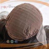 Peluca de las mujeres del pelo humano de Wefted de la parte posterior del frente del cordón de Franch