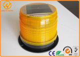 Alto Brightness LED Amber Flashing Solar Warning Light con Magnet