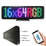 Il nylon del segno P4.75-16X64RGB dello schermo di visualizzazione del LED LED lega la fissazione sulla visualizzazione dell'automobile di Bluetooth LED di parole dello specchio di Sunvisor dell'automobile 12V