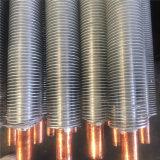 Scambiatore di calore di alluminio del tubo di aletta di buona qualità per la centrale elettrica marina di prodotto chimico alimentare ecc con il certificato ISO9001