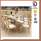 Banquet de mariage Gloden Président de l'hôtel de luxe en acier inoxydable de haute qualité chaise de salle à manger
