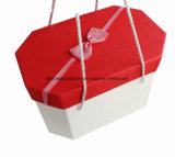 Verpackungs-Papier-Geschenk-Verpacken-/Feiertags-rosafarbenen Papierkasten aufbereiten