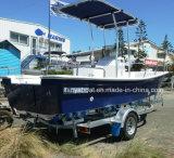 Barco de pesca rígido de la fibra de vidrio del bote de las personas de Liya 8