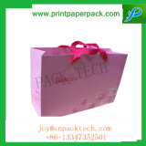 O costume colore o saco de papel do presente não tecido dos doces com punho