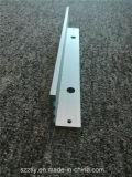 6061 Sable usinés en aluminium anodisé pétardé en forme de L Profil d'Extrusion