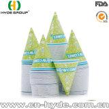 Cuvette de papier de cône d'impression de Flexo pour la cuvette de papier froide de cône de boissons/neige