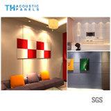 Teto acústico decorativo interior amigável da fibra de poliéster de Eco para o quarto