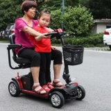 4개의 바퀴 전력 골프 차 또는 Foldable Electric Mobility 무능한 성인을%s 2개의 시트를 가진 스쿠터