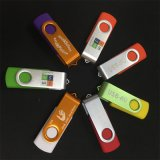 자유로운 로고 금속 플라스틱 USB 2.0 3.0 회전대 기억 장치 지팡이