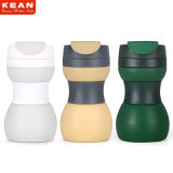 Personalizar 500ml colorido viaje de silicona plegable reutilizable taza de café
