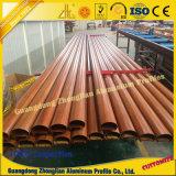 6063 profilo di alluminio del grano di legno di T5 3D per il profilo del tubo