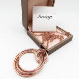 方法ローズの女性のための円のペンダントが付いている金によってめっきされる宝石類文のネックレス