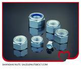 DIN982 /Bsw/Bsf/Unc/Unf 탄소 또는 스테인리스 A2-70 종류 4 파란 6 8 또는 백색 반지 육 나일론 견과 삽입 로크 너트 아연