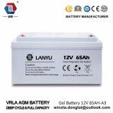 Solarbatterie der Lead-Acid Batterie-tiefe Schleife-Gel-Batterie-12V 65ah