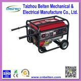groupe électrogène de maison d'essence de recul de câblage cuivre de 5kw 15HP avec le traitement et les roues