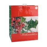 Weiße Blumen-Muster-Schwarz-Kleidungs-tägliches Notwendigkeits-Geschenk-Papierbeutel