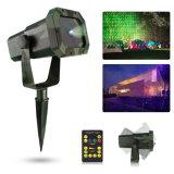 屋外のレーザー光線20パターンRGB照明プロジェクターショー党庭ライト