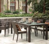 حديقة [رتّن] خارجيّ [ويكر] فناء منزل فندق مكتب مطعم بندقيّة [دين تبل] وكرسي تثبيت ([ج675])