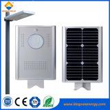 luz de rua solar Integrated ao ar livre do diodo emissor de luz 8W com sensor de movimento