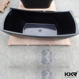 Personalizar el patrón de tallar la bañera de piedra acrílica de color negro.