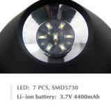 2W luz solar elíptica 3 en 1 luz impermeable al aire libre accionada solar de la pared del sensor de movimiento del paisaje de 7 LED