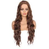 ヨーロッパおよびアメリカの高温絹のねじれのブレードの大きい波の女性の長いカーリーヘアーのかつら