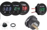 防水12V黒、赤灯、LEDランプ、船、セリウムの証明の自動車、オートバイのための3デジタル表示装置の電圧計