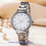 Soem-Frauen-Uhr-Edelstahl-Armbanduhr der Japan-Quarz-Bewegung (WY-17002A)
