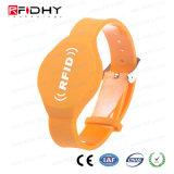 腕時計の形の受動13.56MHz Ti2048 PVC RFIDリスト・ストラップ