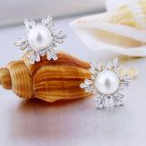 소녀를 위한 다채로운 입방 지르코니아 진주 귀걸이 디자인 보석