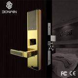 明るい金電子ほぞ穴のホテルの安全なドアロック