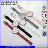 Orologio caldo delle signore del quarzo della cinghia di cuoio di vendita di OEM/ODM (Wy-091C)