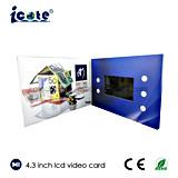 Venta caliente de Vídeo LCD de 4,3 pulgadas Tarjeta Brochure-Video para Negocios