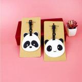 Billig personifizierte nach Maß Panda-Tierform-Leder-Gepäck-Marke