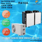 全天候用暖房25~256の立方体のメートル水サーモスタットCop4.62 12kw/19kw/35kw/70kwのチタニウムの管のプールのヒートポンプ380V