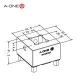 StahlEletrode Halter für maschinell bearbeitenden und anderes Elektroden-aufbereitenden CNC EDM (3A-520103)