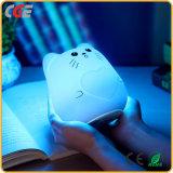 Lumière changeante de vente chaude de nuit de silicones de gosses de couleur de la batterie 1200mAh rechargeable de cadeau pour la chambre à coucher