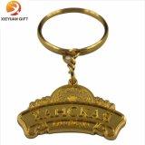 Anello chiave d'ottone placcato oro in lega di zinco per i regali (XY-mxl91006)
