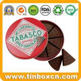 Geprägtes ovales Form-Schokoladen-Zinn für Nahrungsmittelablagekasten