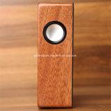 Bambu Natural Desktoptablet Mini leitor de alto-falante Alto-falante Bluetooth por indução sem fios de madeira
