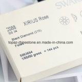 Самый лучший 2088 режа Rhinestone Flatback Rhinestone Hotfix более цветастого черного алмаза Swar экземпляра Non стеклянных (FB-13)