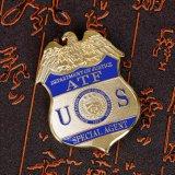 Значок изготовленный на заказ значка медали сплава цинка воинский с мягкой эмалью