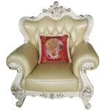 2018 La feria de Cantón sofá de cuero auténtico mobiliario del hotel (004-1)