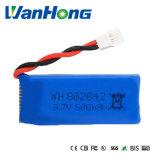 3.7V Batterij van het 500mAh de Hoge Afvoerkanaal 802042pl voor Vliegtuigen