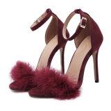 女性のバックルの小剣のハイヒールの流行の足首ストラップのOlの靴