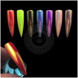 Aurora de neón de acrílico espejo cromado de pigmento en polvo de sirena Nailart