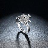 Fijne Juwelen van de Ring van de Schildpad van het Zirkoon van de manier de Witgoud Geplateerde