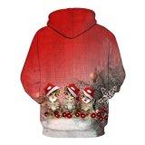 Impression numérique personnalisé plein Hoodies Fleece Noël Sweat-shirt de sport (KT66001)