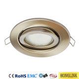 Drehbare Befestigungen LED-Downlight mit Kontaktbuchse GU10